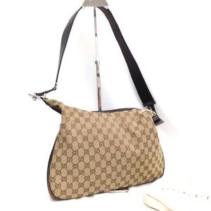Auth Gucci GG Crossbody Bag 223GS140